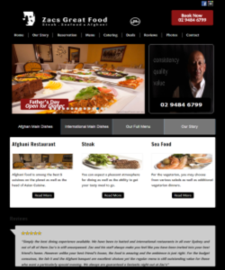 Website Designers for Restaurant Website